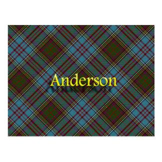 Scottish Clan Anderson Tartan Postcard