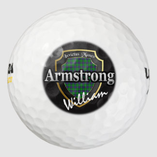 Scottish Clan Armstrong Personalize Your Name Golf Balls