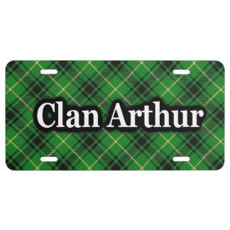 Scottish Clan Arthur Tartan Celebration License Plate