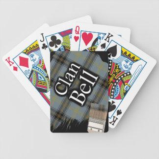 Scottish Clan Bell Tartan Paint Brush Bicycle Playing Cards