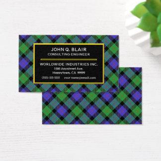 Scottish Clan Blair Tartan Plaid Business Card