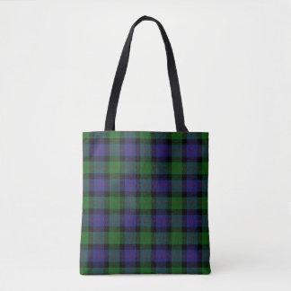 Scottish Clan Blair Tartan Plaid Tote Bag