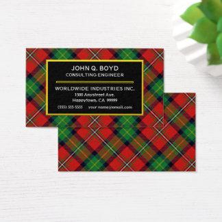Scottish Clan Boyd Tartan Plaid Business Card