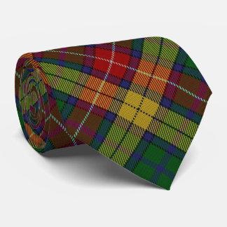Scottish Clan Buchanan B Monogram Tartan Neck Tie