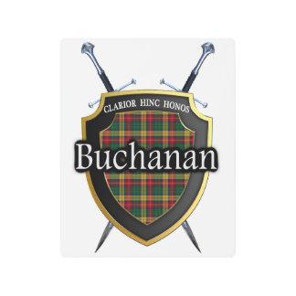 Scottish Clan Buchanan Tartan Accents Metal Photo Print