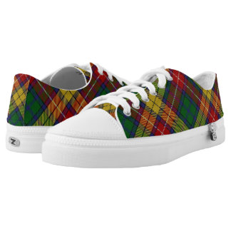 Scottish Clan Buchanan Tartan Low-Top Sneakers