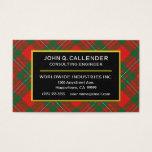 Scottish Clan Callender Tartan Plaid Business Card