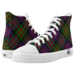Scottish Clan Carnegie Tartan High-Top Sneakers