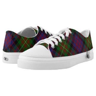 Scottish Clan Carnegie Tartan Printed Shoes