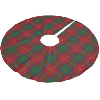 Scottish Clan Chisholm Tartan Brushed Polyester Tree Skirt