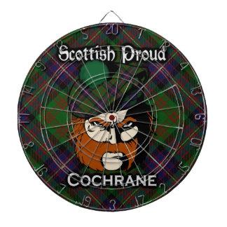 Scottish Clan Cochrane Tartan Dartboard