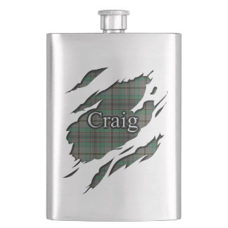 Scottish Clan Craig Tartan Flask