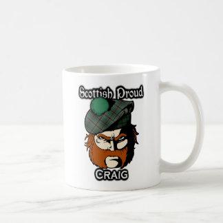 Scottish Clan Craig Tartan Scottish Coffee Mug