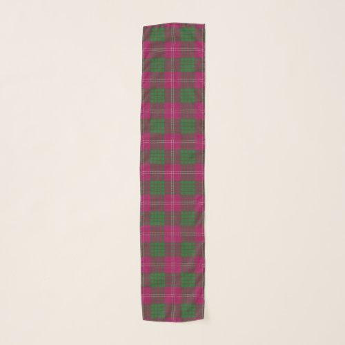 Scottish Clan Crawford Tartan Plaid Scarf