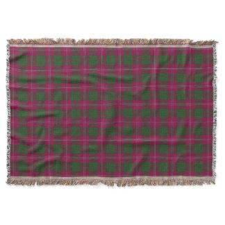 Scottish Clan Crawford Tartan Throw