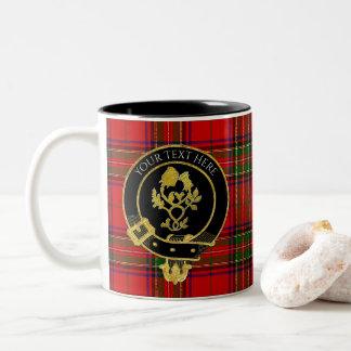 Scottish Clan Crest Rose Thistle Two-Tone Coffee Mug