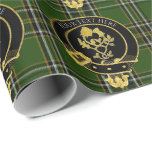 Scottish Clan Crest Rose Thistle Wrapping Paper
