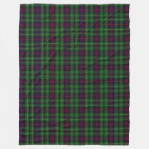 Scottish Clan Cunningham Classic Tartan Plaid Fleece Blanket