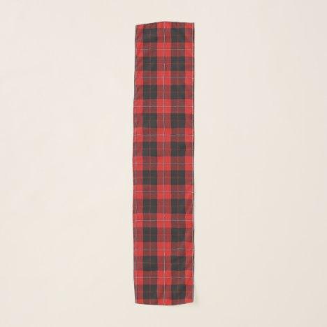 Scottish Clan Cunningham Red and Black Tartan Scarf