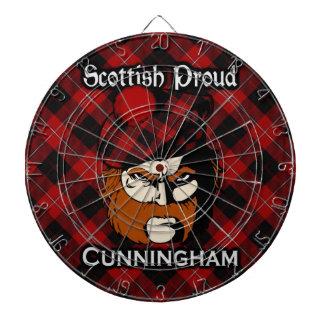 Scottish Clan Cunningham Tartan Dartboard