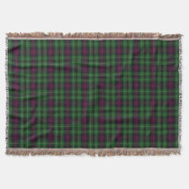 Scottish Clan Cunningham Tartan Plaid Throw Blanket
