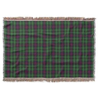Scottish Clan Cunningham Tartan Plaid Throw Blanket
