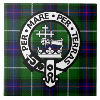 Scottish Clan Donald Tartan and Crest Ceramic Tile