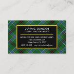 Scottish Clan Duncan Tartan Plaid Business Card