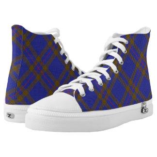 Scottish Clan Elliot Elliott Tartan High-Top Sneakers
