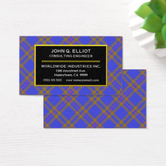 Scottish Clan Elliot Elliott Tartan Plaid Business Card