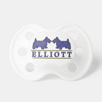 Scottish Clan Elliott Elliot Scottie Dogs Tartan Pacifier
