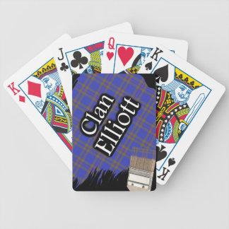 Scottish Clan Elliott Tartan Paint Brush Bicycle Playing Cards