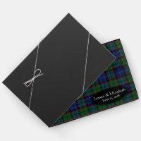 Scottish Clan Fletcher Tartan Plaid Wedding Guest Book