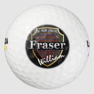 Scottish Clan Fraser of Lovat Personalize Name Golf Balls