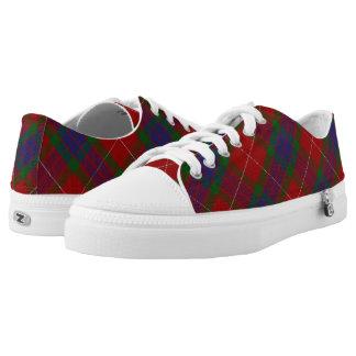 Scottish Clan Fraser Tartan Low-Top Sneakers