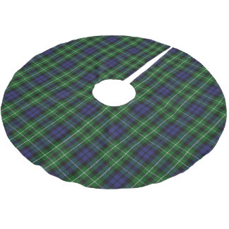 Scottish Clan Graham Blue Green Tartan Brushed Polyester Tree Skirt
