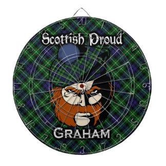 Scottish Clan Graham Tartan Dartboard