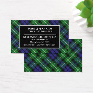 Scottish Clan Graham Tartan Plaid Business Card