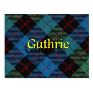 Scottish Clan Guthrie Postcard