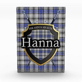 Scottish Clan Hanna Hannay Tartan Photo Block