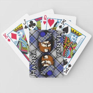 Scottish Clan Hanna Hannay Tartan Plaid Bicycle Playing Cards