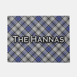 Scottish Clan Hannay Hanna Tartan Welcome Mat Doormat