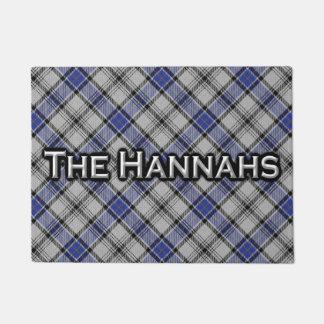 Scottish Clan Hannay Hannah Tartan Welcome Mat