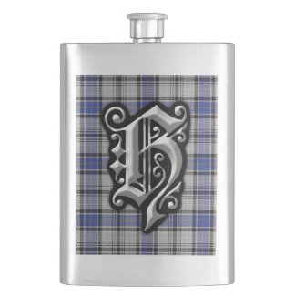 Scottish Clan Hannay Letter H Monogram Tartan Flask
