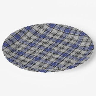 Scottish Clan Hannay Tartan 9 Inch Paper Plate