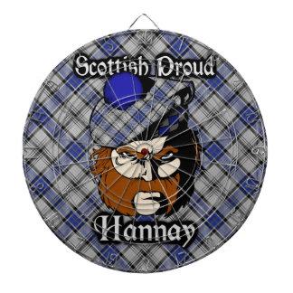 Scottish Clan Hannay Tartan Dartboard