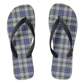 Scottish Clan Hannay Tartan Flip Flops