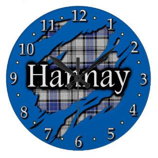 Scottish Clan Hannay Tartan Large Clock