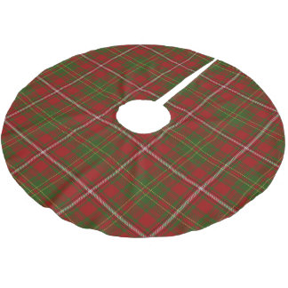 Scottish Clan Hay Red Green Tartan Brushed Polyester Tree Skirt