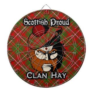 Scottish Clan Hay Tartan Dartboard